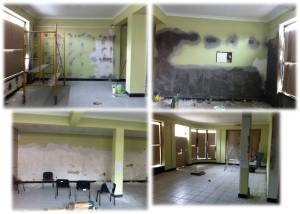 The building we are renting needs a lot of work on the walls. The construction team, has been patching different areas and preparing it for painting. Thanks for your prayers for the work that is moving forward here.