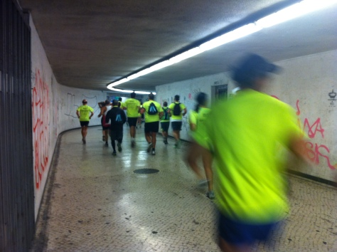 The race went through the subway system as well.