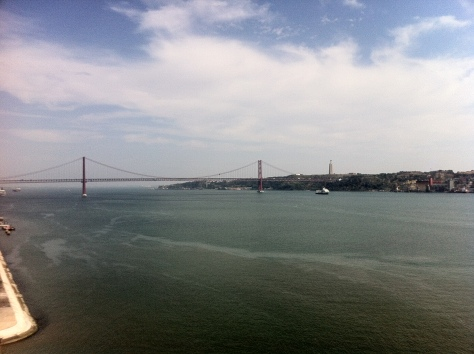 Looking over the Tejo River in Lisbon