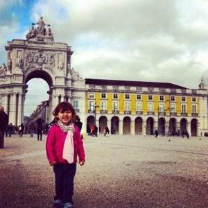 Laura touring Lisbon