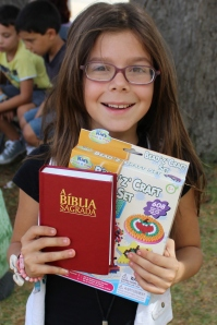 Paula with her red Bible