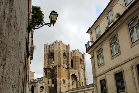 Sé Cathedral. I think it is the oldest church in Lisbon.