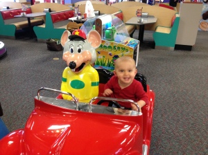 First time at Chuck E. Cheese