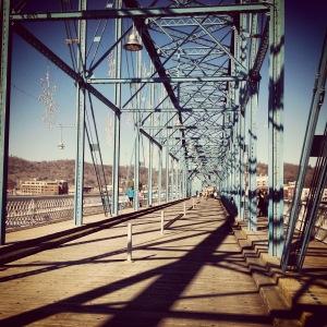 Walking bridge in Chattanooga