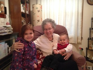 With great-mamaw.
