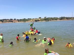 Fun in the lake.