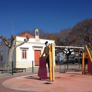 Bull fighting themed park.