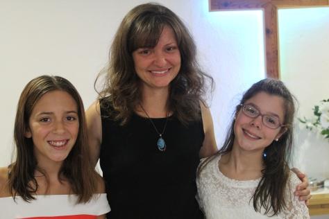 Joana and Paula with Sarah